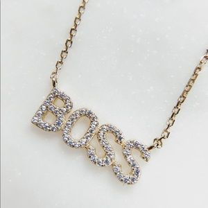Jewelry - Boss Nameplate Necklace - Sterling Silver